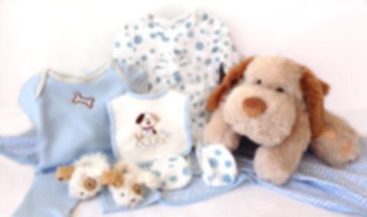 Blue Puppy Basket
