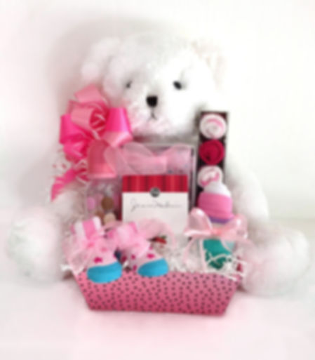 Teddy Bear Baby girl arrangement