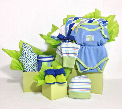 Gift Box tower of gifts for new baby boy