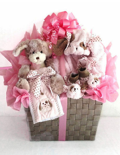 Posh Puppy Coat Basket arrangemet