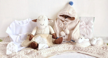 Organic Lamb Wooden Crate Gift