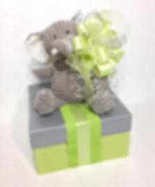 Pink Baby Elephant Gift Box