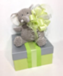 Pink Baby Elephant Gift Box
