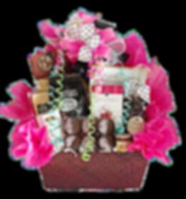 Gourmet food gift basket arrangement