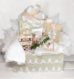 Personal Luxury Basket with soap. lotion, potpourri, candle, journal and more.