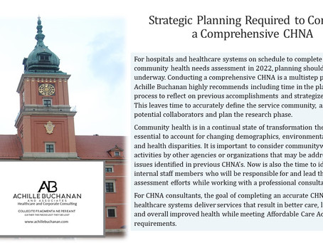 Community Health Needs Assessment Planning