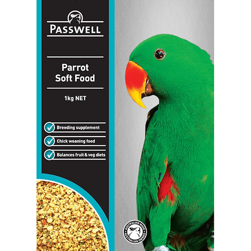 Parrot Soft Food 1kg - Passwell