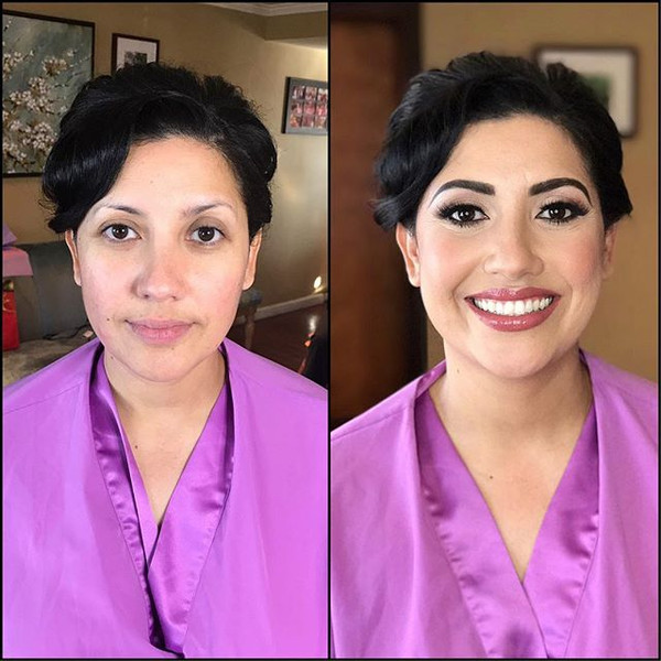 Before & after of this beautiful bride.j