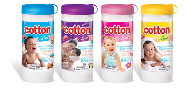 lencos pote 40 unidades cotton line