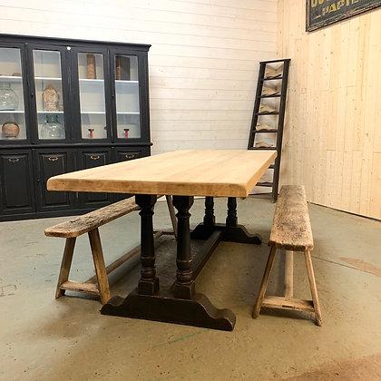 Table de ferme pied monastère en chêne