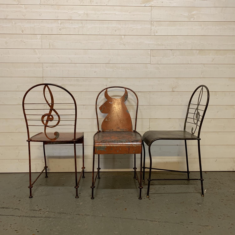 chaises de jardin en métal