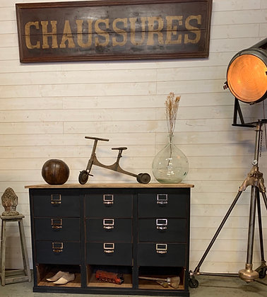 Ancien comptoir meuble de métier 1950