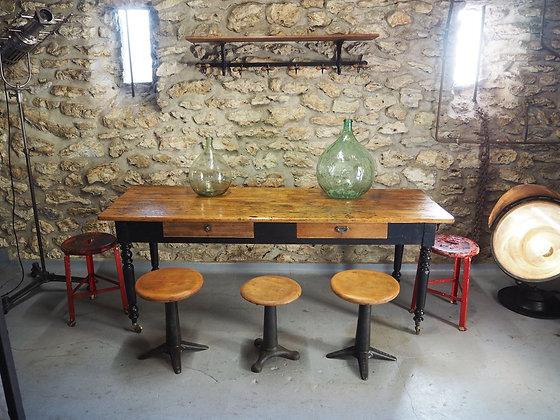 Ancienne table de ferme / drapier 1940