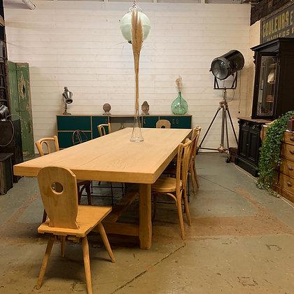 Table de ferme XXL en chêne