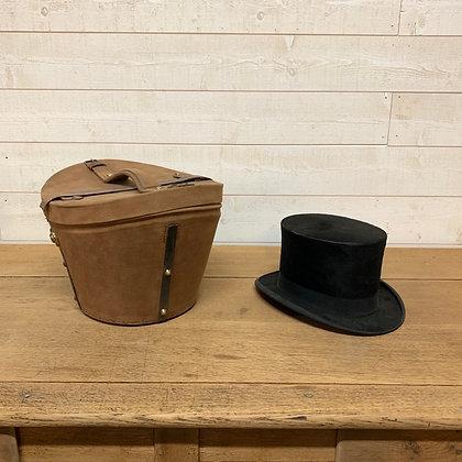 Ancien chapeau Haut de forme et sa boîte