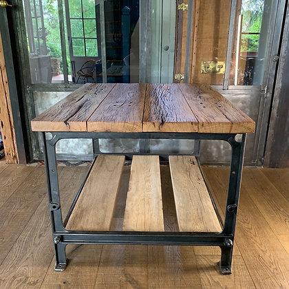 Table Basse vieux chêne pied SIMANCO