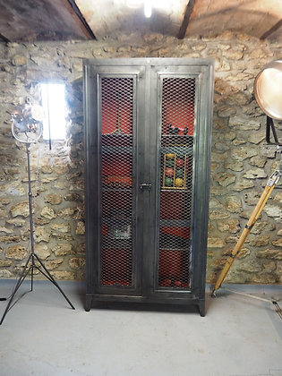 Ancienne armoire industrielle Roneo 1950
