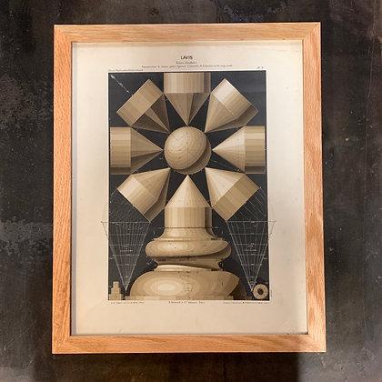 "Lithographie ""Ombre sur Cylindre"""