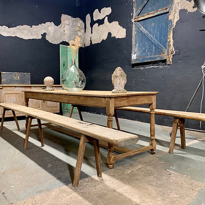 Table de drapier en chêne XIX eme