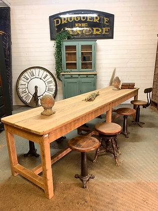 Table de ferme XXL en chêne 1940