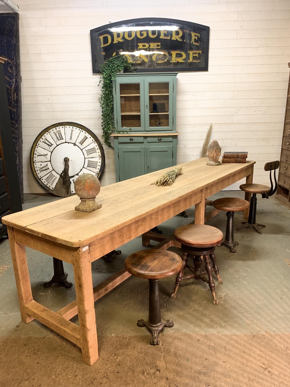 table de ferme chêne 3 metre 1940