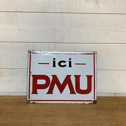Plaque émaillée ICI PMU