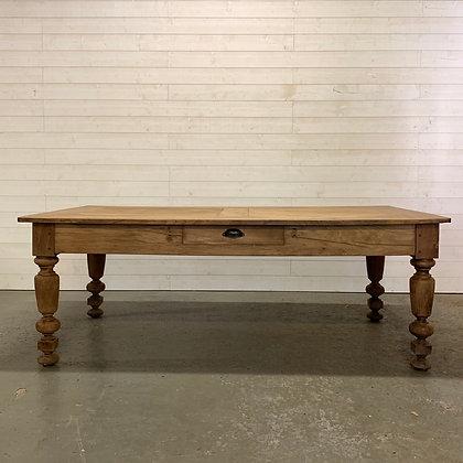 Ancienne Table en chêne du parlement de Bretagne fin XIX