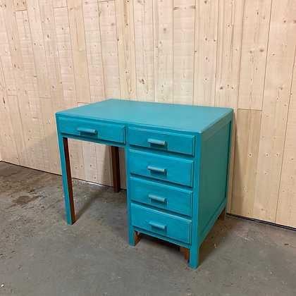 Bureau vintage bleu vif