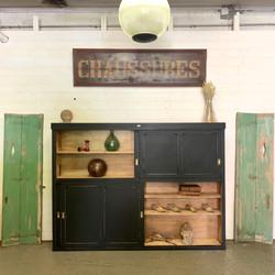 Grand meuble coulissant d'atelier 1930