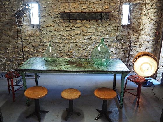 ancienne table d'usine pliable 1950