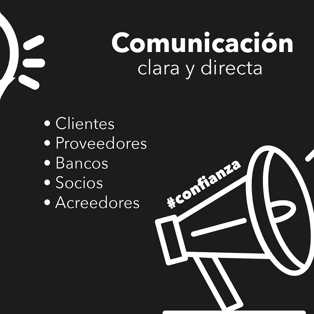 Comunicación clara y directa construye confianza en el futuro con tus socios y clientes