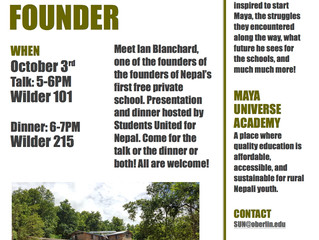 Come meet the founder of Nepal's first free private school!