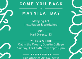 """Come You Back to Maynila Bay: Mahjong Art Installation & Workshop"