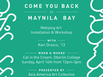"""Come You Back to Maynila Bay: Mahjong Art Installation & Workshop"