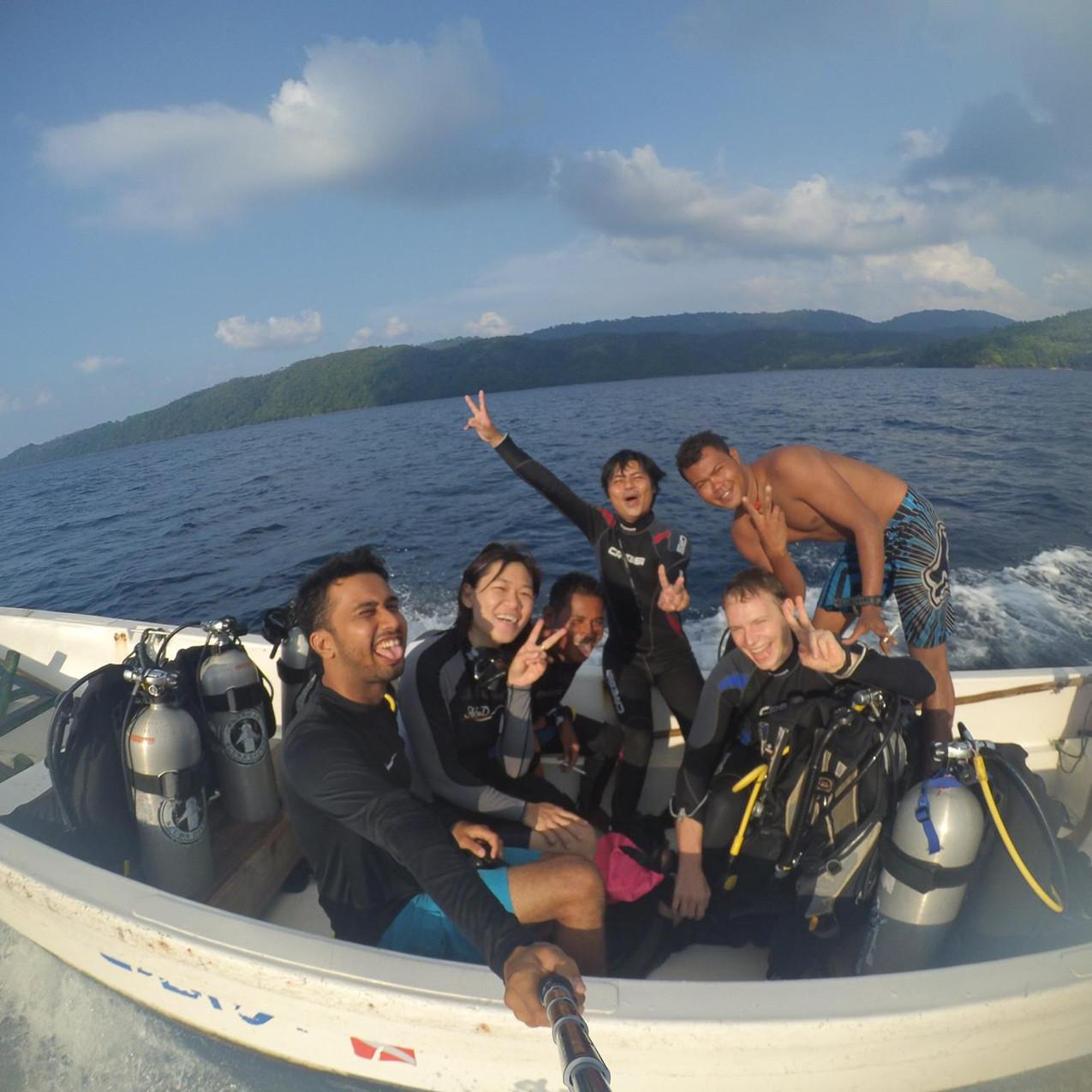 Patrick Gilfether scuba diving