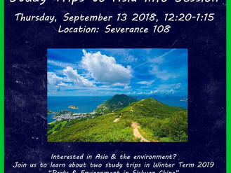 Study Trips to Asia Info Session