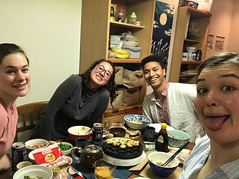 Takoyaki Party at the Obirin Coope with