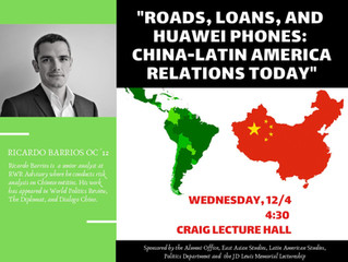 """""""Roads, Loans, and Huawei Phones: China-Latin Americarelations Today"""""""