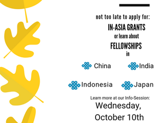 Last In-Asia Grants and Fellowship Info Session