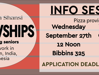 Fellowship Information Sessions!