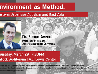 """Professor Simon Avenell to give lecture: """"Environment as Method: Postwar Japanese Activism and East"""