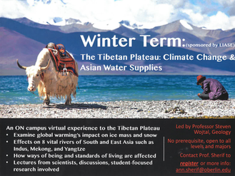 On-campus Winter Term to study Climate Change in the Tibetan Plateau
