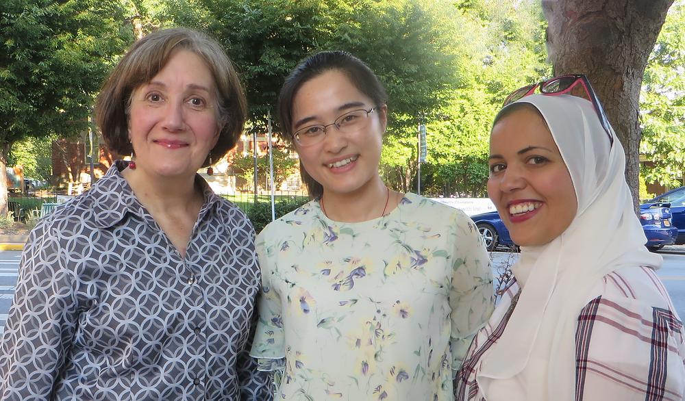 Elaine Vukov, Assistant Director with Hengyu Zhang and Nesren Hefnawy