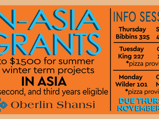In-Asia Grant Information Sessions