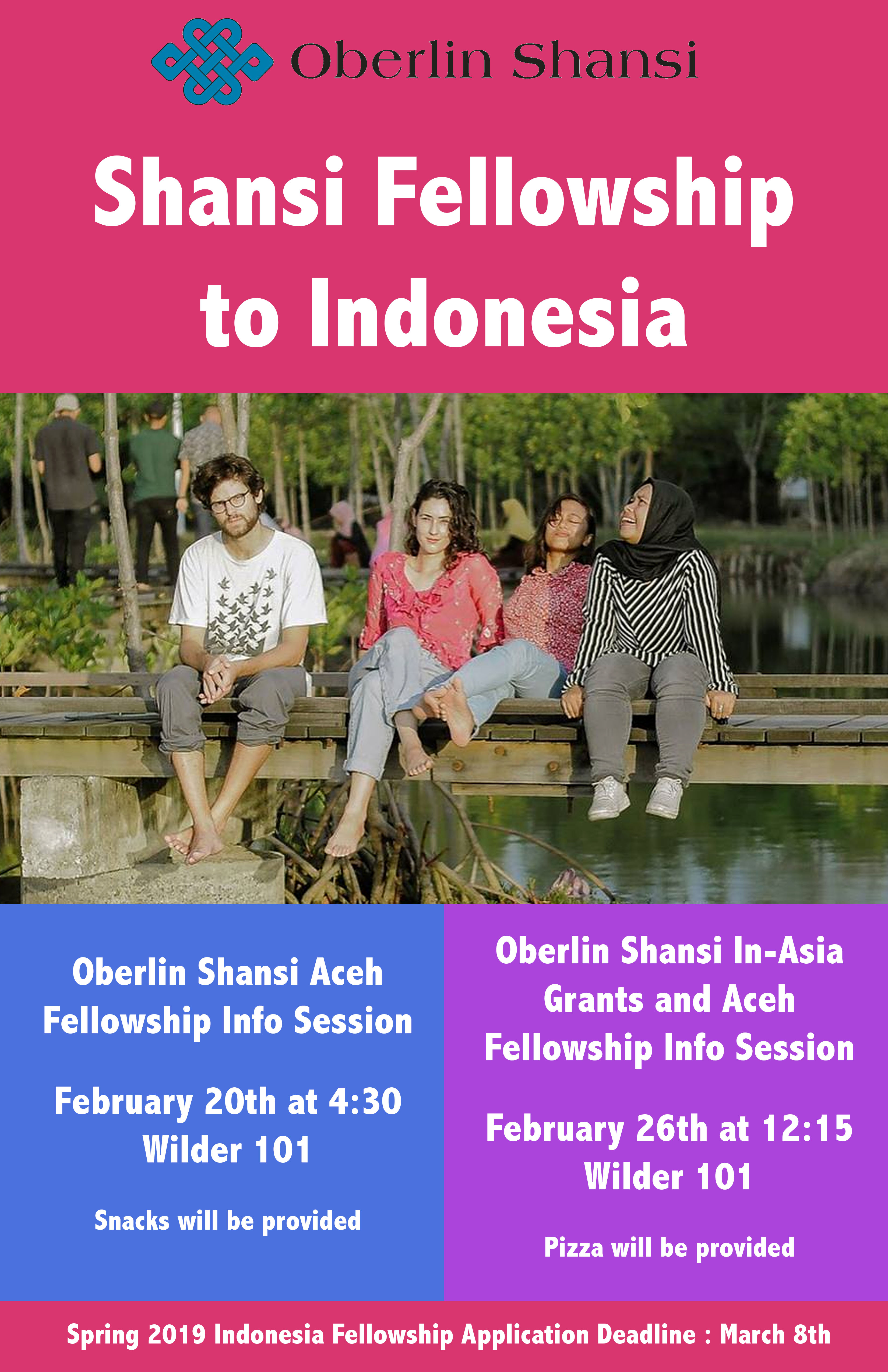 Aceh Indonesia Fellowship Info Session | Oberlin Shansi