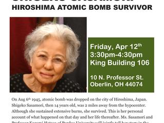 Story of Peace: Shigeko Sasamori, Hiroshima Atomic Bomb Survivor