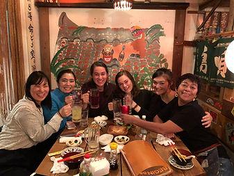 Rakuen dinner with Junko, Nancy, Sara, E