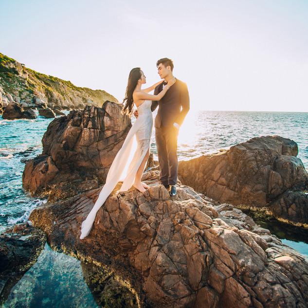 Post Wedding Photo At Sunset