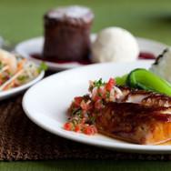 misoyaki butterfish (lobster potsticker - souffle in background).jpg