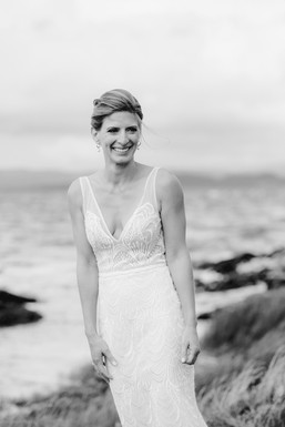 bridal portrait on beach